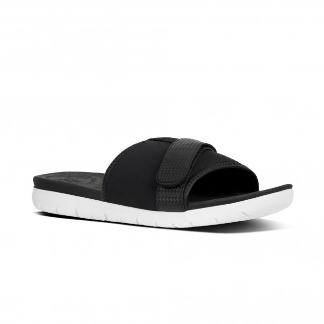 5530f9e8fedd FitFlop™ NEOFLEX™ Ladies Slide Sandals Black