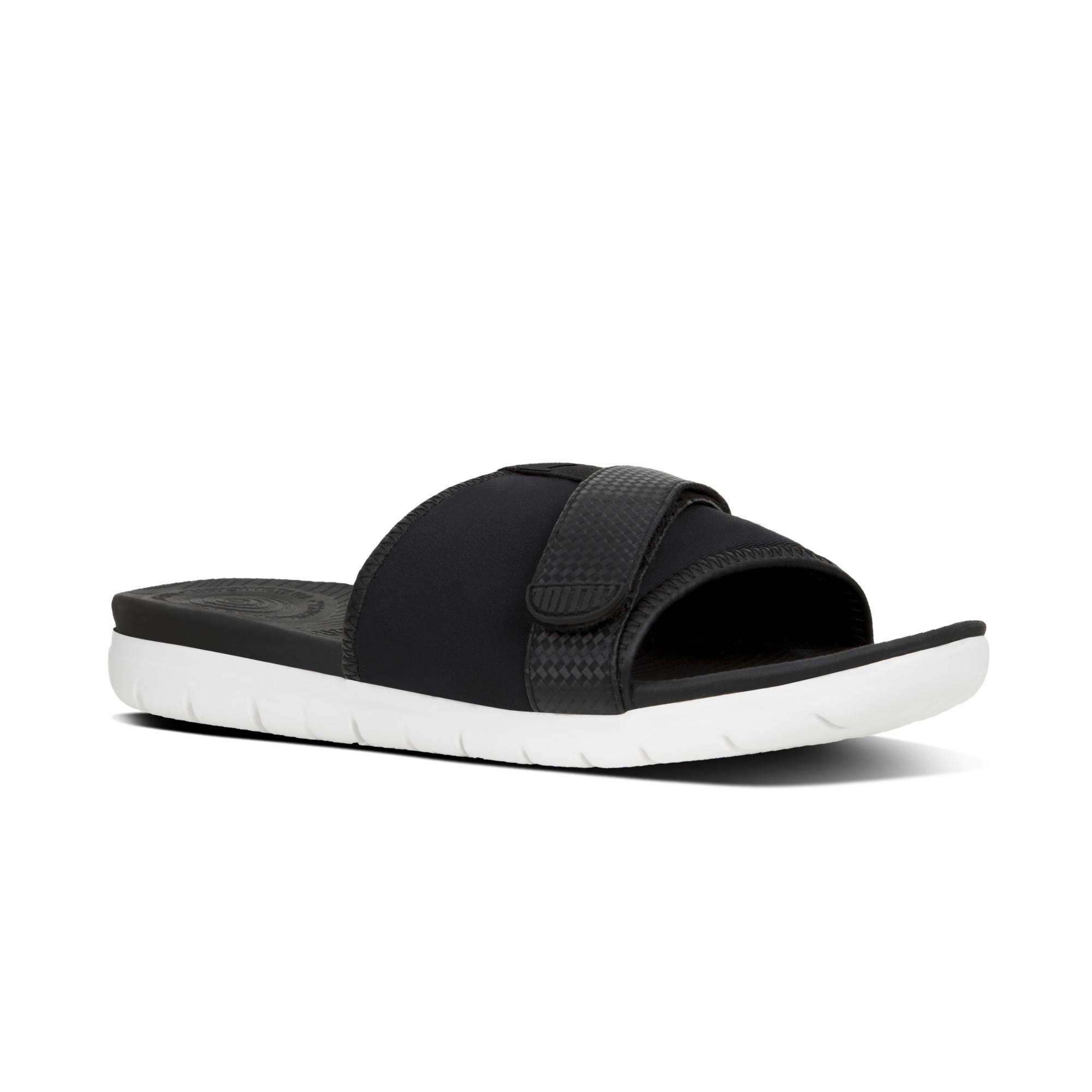 bb5dc4082c4f FitFlop™ NEOFLEX™ Ladies Slide Sandals Black