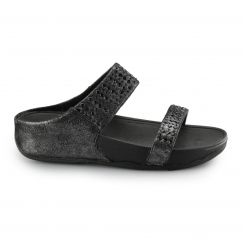 NOVY™ SLIDE Ladies Suede Mule Sandals Black