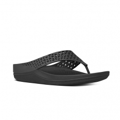 FitFlop™ RINGER WELLJELLY™ Ladies Rubber Toe Post Sandals Black