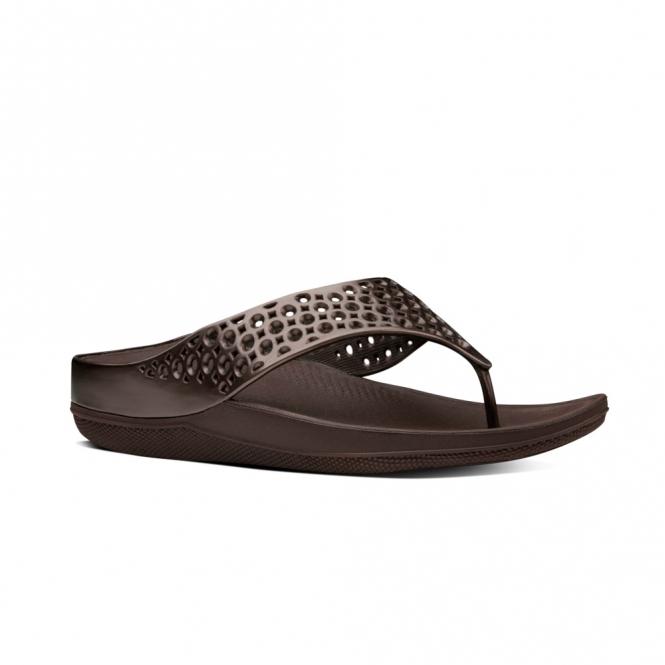 Womens Ringer Welljelly Flip Flops Open-Toe Sandals, Silver FitFlop