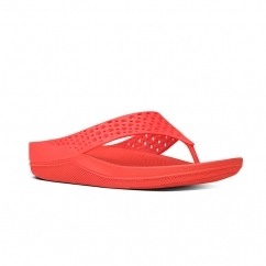FitFlop™ RINGER WELLJELLY™ Ladies Rubber Toe Post Sandals Flame
