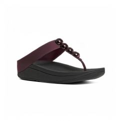 ROLA™ Ladies Toe Post Jewel Sandals Hot Cherry