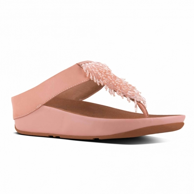 2ecb634009db FitFlop™ RUMBA™ Ladies Leather Toe Post Sandals Dusky Pink