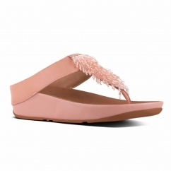 FitFlop™ RUMBA™ Ladies Leather Toe Post Sandals Dusky Pink