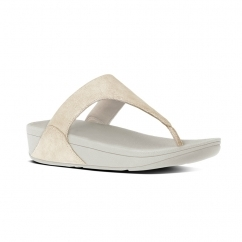 SHIMMY™ Ladies Suede Toe Post Sandals Pale Gold