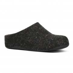 SHUV FELT™ Ladies Felt Mule Clogs Shimmer Black
