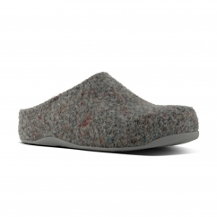 FitFlop™ SHUV FELT™ Ladies Felt Mule Comfort Clogs Shoes Grey |Shuperb