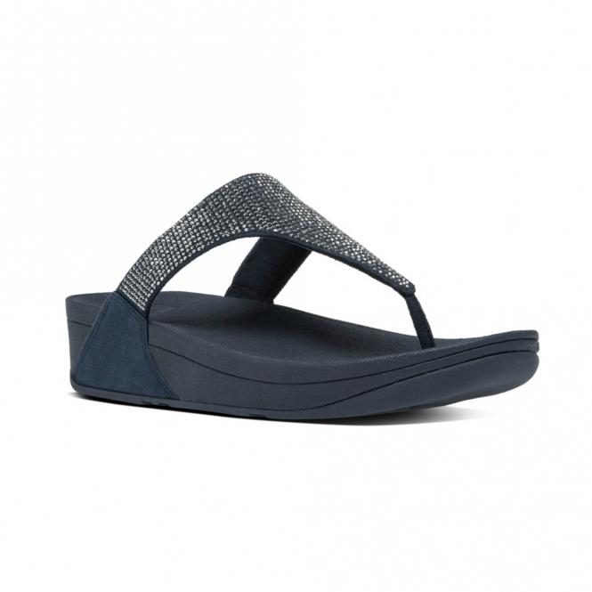 fc8d67ed40c FitFlop™ SLINKY ROKKIT™ Ladies Leather Toe Post Sandals Supernavy