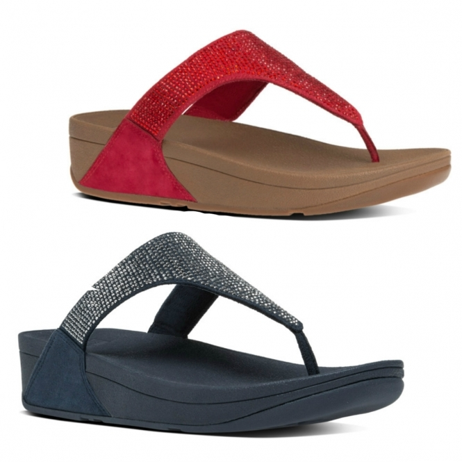 06fc6d78a FitFlop™ SLINKY ROKKIT™ Ladies Leather Toe Post Sandals Supernavy