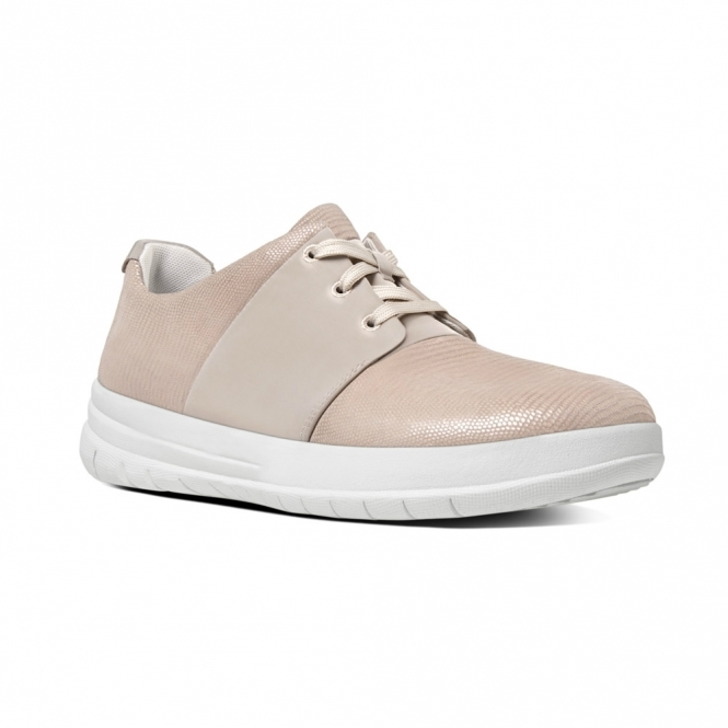 de158e5f8f2 FitFlop™ SPORTY-POP X LIZARD™ Ladies Suede Lace Up Trainers Nude