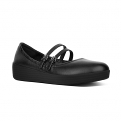SUPERBENDY™ MARY JANE Ladies Leather Pumps Black