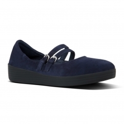 FitFlop™SUPERBENDY™ MARY JANE Ladies Leather Pumps Navy | Shuperb