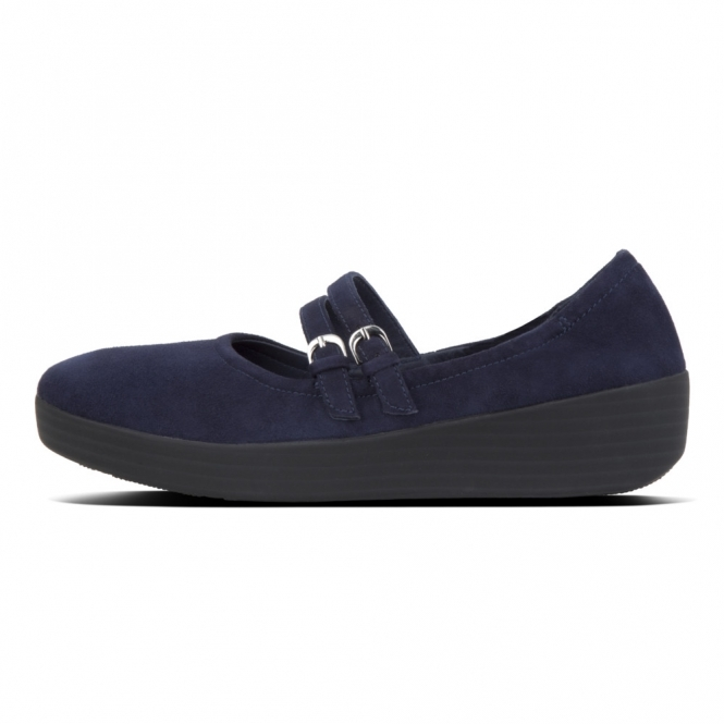 aa8b9ce4448 FitFlop™SUPERBENDY™ MARY JANE Ladies Leather Pumps Navy