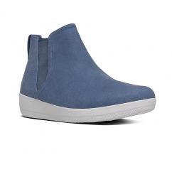 FitFlop™ SUPERCHELSEA™ Ladies Canvas Chelsea Boots Midnight Navy
