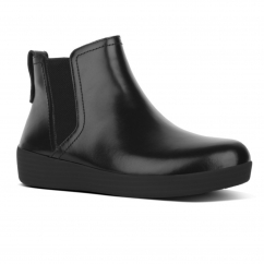 SUPERCHELSEA™ Ladies Leather Chelsea Boots All Black