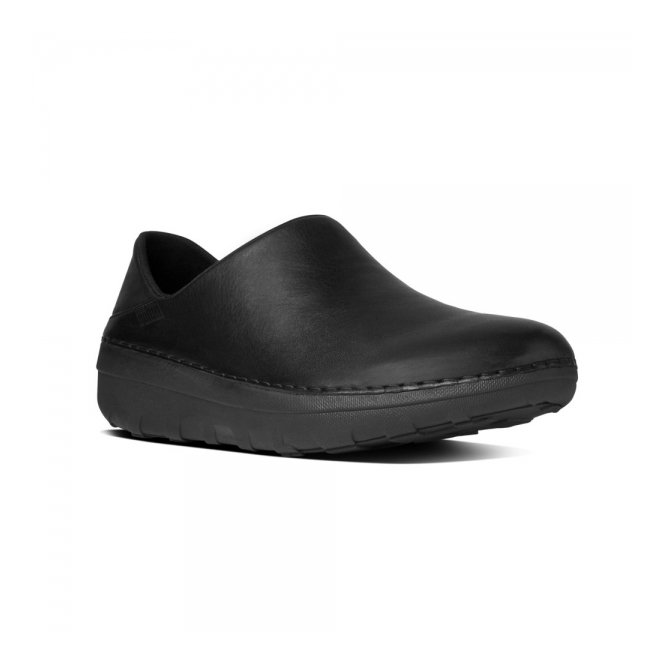 c91983e0ce7 FitFlop SUPERLOAFER™ Ladies Leather Slip On Loafers Black