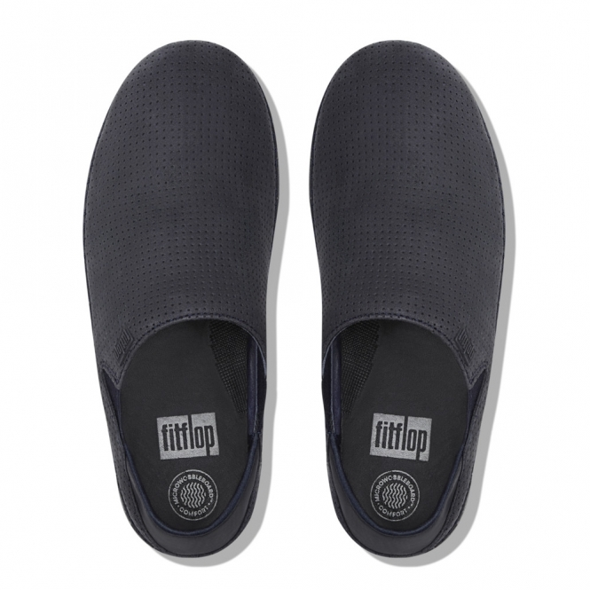 b339bbd0d6f FitFlop SUPERLOAFER™ Ladies Nubuck Leather Loafers Supernavy