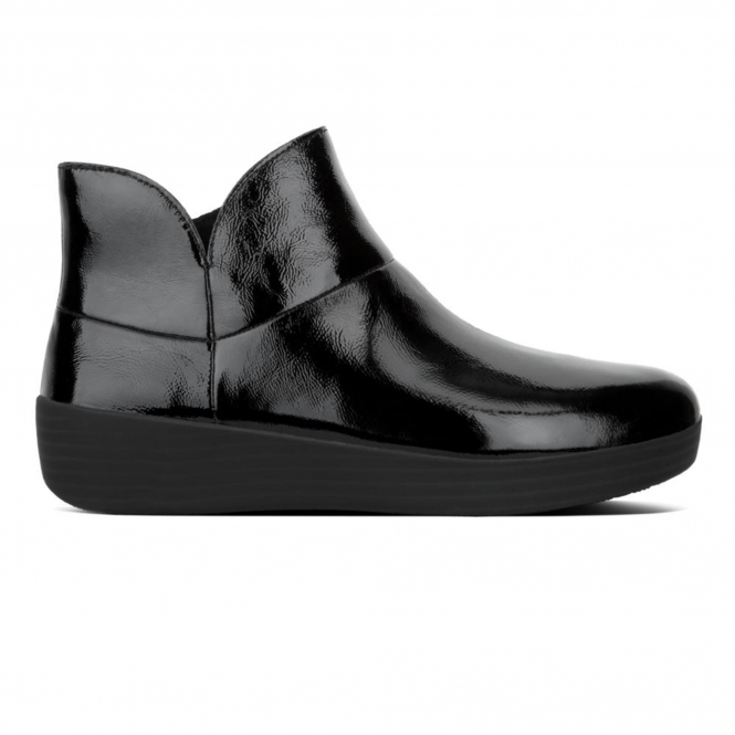 e2cce60675412 FitFlop™ SUPERMOD™ Ladies Patent Leather Ankle Boots Black | Shuperb.co.uk