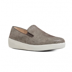 SUPERSKATE LIZARD PRINT™ Ladies Suede Loafers Chocolate