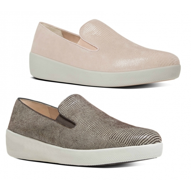 Ladies Suede Loafers Nude Pink  Shuperb