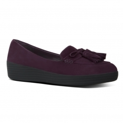 TASSEL BOW SNEAKERLOAFER™ Ladies Suede Loafers Deep Plum
