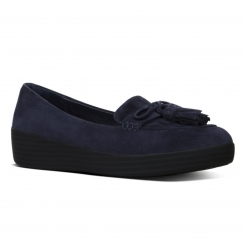 TASSEL BOW SNEAKERLOAFER™ Ladies Suede Loafers Midnight Navy