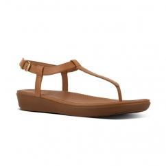 09e970f8d82907 FitFlop TIA Ladies Leather Toe Post Sandals Caramel