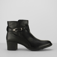 Fleet & Foster CANTERBURY Ladies Heeled Ankle Boots Black | Shuperb