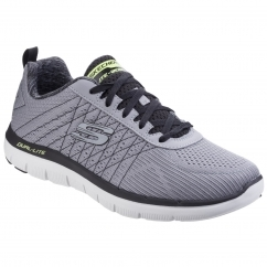 Skechers FLEX ADVANTAGE THE HAPPS Mens Sports Trainers Grey