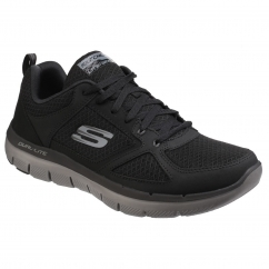 Skechers FLEX ADVANTAGE 2.0 LINDMAN Mens Trainers Black/Charcoal