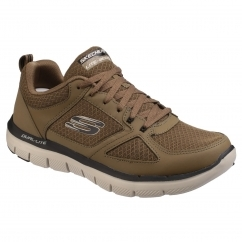 Skechers FLEX ADVANTAGE 2.0 LINDMAN Mens Trainers Olive/Black