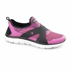 FLEX APPEAL 2.0 - NEW IMAGE Ladies Sports Trainers Hot Pink/Black