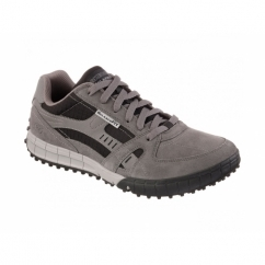FLOATER Mens Relaxed Fit Casual Trainers Charcoal/Black