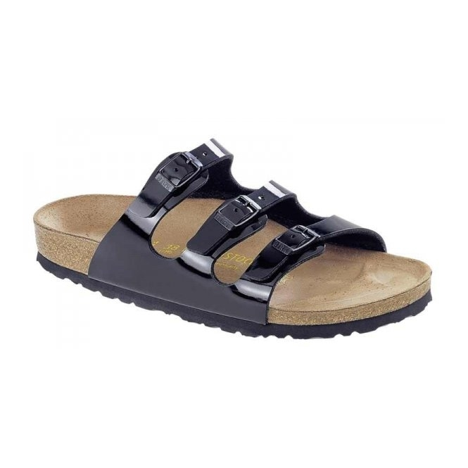 Birkenstock FLORIDA Ladies Birko-Flor Lack Black