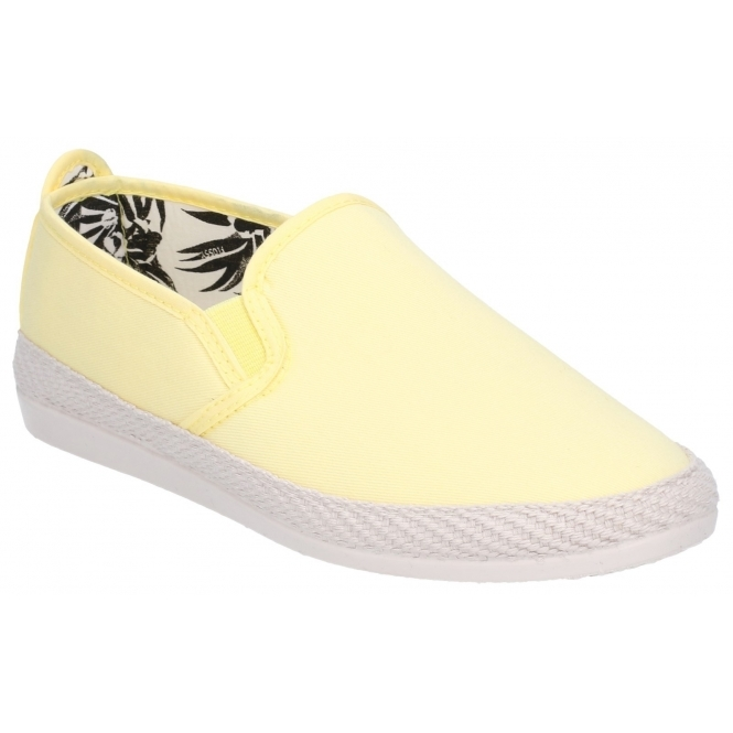 73fafd308 Flossy ORLA ESPADRILLE Ladies Canvas Slip On Plimsolls Yellow