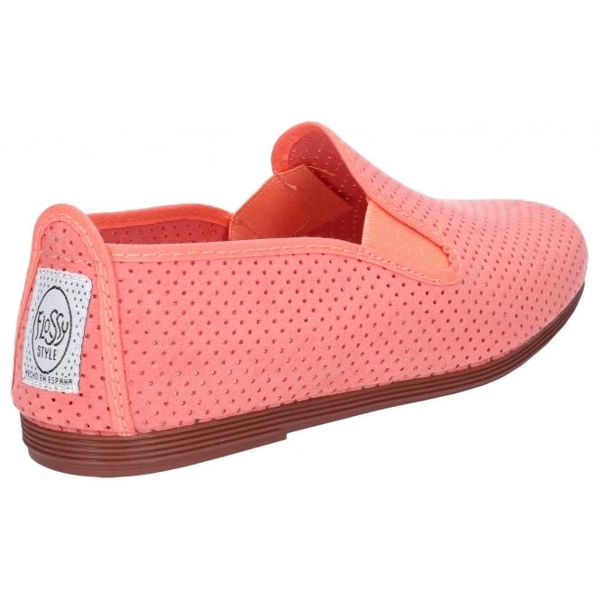 Flossy PULGA Unisex Ladies Womens Perforated Slip On Plimsolls Various Colours