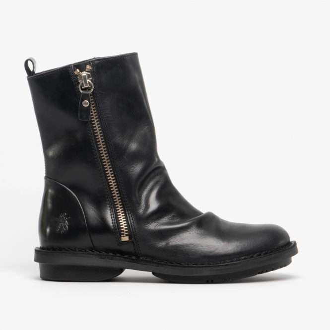 Leather Ankle Boots Black|Shuperb