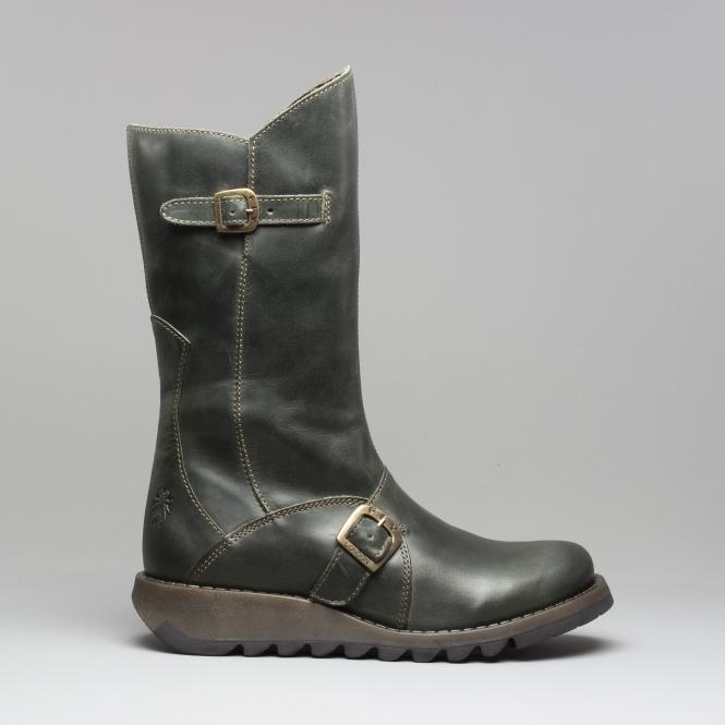 bda6b2ca0fb MES 2 Ladies Leather Mid Calf Boots Diesel