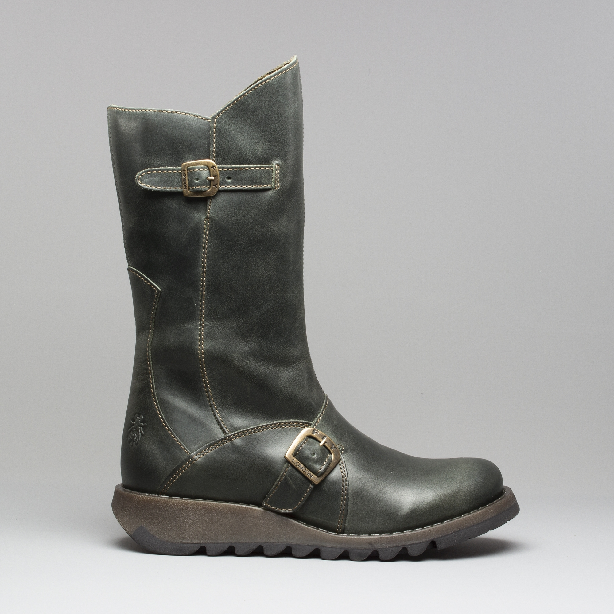 84d185a5f06db Fly London MES 2 Leather Mid Calf Boots Diesel | Shuperb