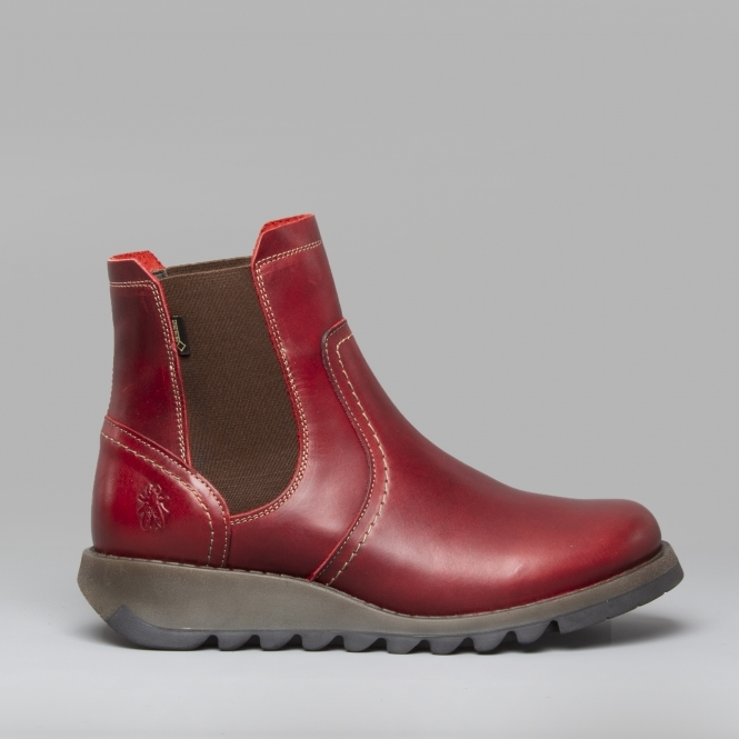 Fly London SCON058FLY Leather Ankle Boots Red  b590c0be9