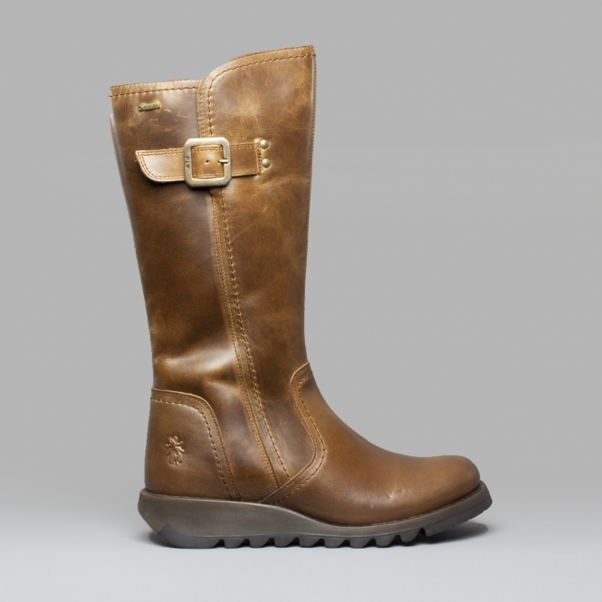 Fly London SHAP059FLY Leather Mid Calf Boots Camel  944c1a2e3481