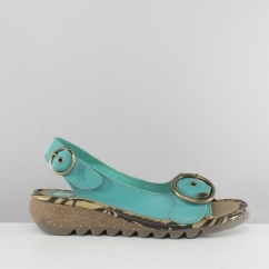 Fly London TRAM723FLY Ladies Wedge Sandals Verdigris