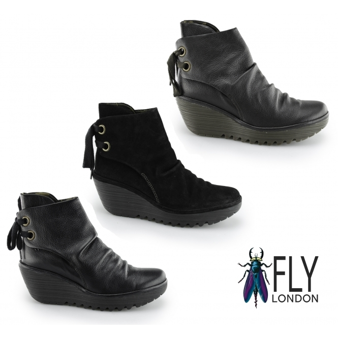 Fly London YAMA Ladies Suede Laced