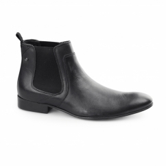 FORBES SOFTY Mens Leather Chelsea Boots Dark Grey