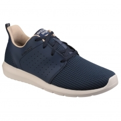 Skechers FOREFLEX Mens Leather/Mesh Trainers Navy