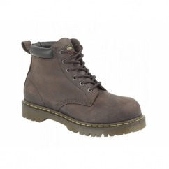 FORGE ST Mens Oily Leather Industrial Safety Boots Brown