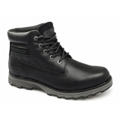 FOUNDER Mens Leather Wide Fit Lace-Up Work Boots Black