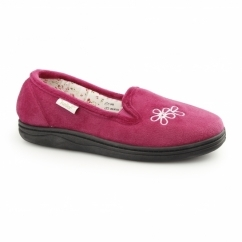 FREDA Ladies Soft Slip On Full Slippers Fuchsia