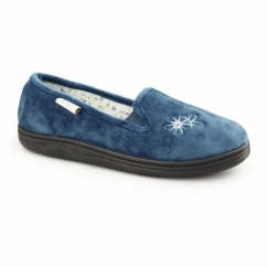FREDA Ladies Soft Slip On Full Slippers Teal